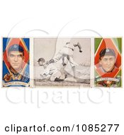 Vintage Baseball Card Of George Moriarty And Ty Cobb Royalty Free Stock Illustration