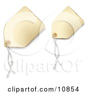 Off White Blank Sales Price Tags With String Clipart Illustration