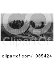 The March Of Miles Standish Free Historical Stock Illustration