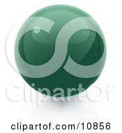 Clipart Illustration Of A Green 3D Sphere Internet Button by Leo Blanchette