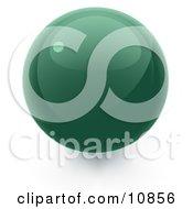 Green 3d Sphere Internet Button