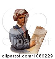 Sequoyah Holding The Cherokee Alphabet Free Historical Stock Illustration