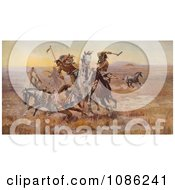 Sioux And Blackfeet Indian Battle Free Historical Stock Illustration