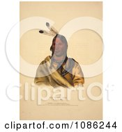 Sioux Indian Chief Esh Ta Hum Leah Free Historical Stock Illustration