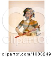 Ioway Indian Chief Named Shau Hau Napo Tinia Free Historical Stock Illustration