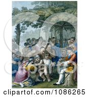 The Indians Delivering Up The English Captives To Colonel Bouquet Free Historical Stock Illustration