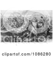 Massacre Of United States Troops By The Sioux And Cheyenne India Free Historical Stock Illustration