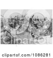 Sioux Indian Ghost Dance Free Historical Stock Illustration