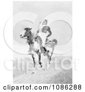 Comanche Indian On An American Paint Horse Free Historical Stock Illustration