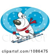 Skiing Polar Bear
