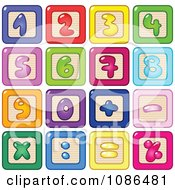 Clipart Colorful Number Blocks Royalty Free Vector Illustration