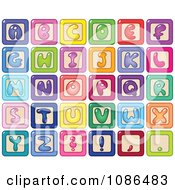Clipart Colorful Capital Letter Alphabet Blocks Royalty Free Vector Illustration