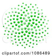 Clipart 3d Green Spiral Fibonacci Golden Ratio Mathematics Dot Pattern Royalty Free Vector Illustration
