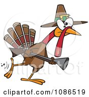 Clipart Turkey Pilgrim Hunting Royalty Free Vector Illustration by toonaday