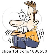 Clipart Scared Man Shaking Royalty Free Vector Illustration