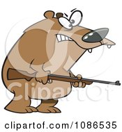 Clipart Armed Bear Royalty Free Vector Illustration by toonaday