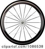 Clipart 3d Bicycle Tire Royalty Free Vector Illustration by michaeltravers #COLLC1086538-0111