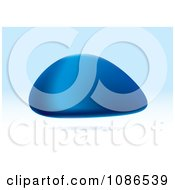 Clipart 3d Blue Floating Stone Royalty Free Vector Illustration