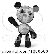 Clipart 3d Stuffed Panda Teddy Bear Waving 1 Royalty Free CGI Illustration