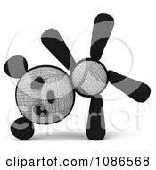 Clipart 3d Stuffed Panda Teddy Bear Cartwheeling Royalty Free CGI Illustration