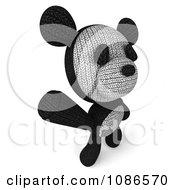 Clipart 3d Stuffed Panda Teddy Bear Waving 3 Royalty Free CGI Illustration