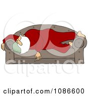 Santa Sleeping On A Couch