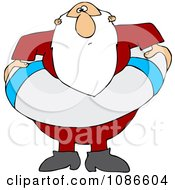 Clipart Santa With A Life Buoy Royalty Free Vector Illustration by djart
