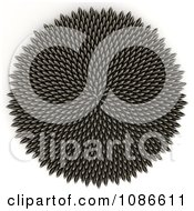 Clipart 3d Sunflower Seed Fibonacci Golden Ratio Circle Royalty Free CGI Illustration by Leo Blanchette