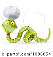Clipart 3d Chef Snake 5 Royalty Free CGI Illustration