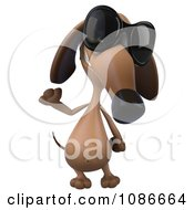 Clipart 3d Dachshund Wearing Sunglasses 2 Royalty Free CGI Illustration