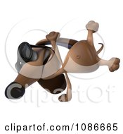 Clipart 3d Cartwheeling Dachshund Wearing Sunglasses Royalty Free CGI Illustration