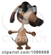 3d Dachshund Wearing Sunglasses 4