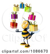 Clipart 3d Honey Bee Juggling Gifts 2 Royalty Free CGI Illustration
