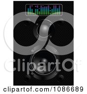 Clipart 3d Black Speaker Box And Equalizer Royalty Free Vector Illustration