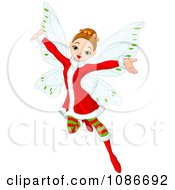 Clipart Christmas Fairy With Open Arms Royalty Free Vector Illustration