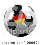 Clipart 3d Germany Soccer Championship Of 2012 Ball Royalty Free CGI Illustration by stockillustrations