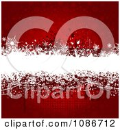 Clipart Red And White Grunge Snowflake Christmas Background Royalty Free Vector Illustration