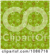 Clipart Green Patterned Snowflake Christmas Background Royalty Free Vector Illustration