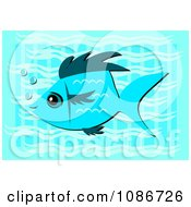 Clipart Blue Fish In Blue Water Royalty Free Vector Illustration by bpearth