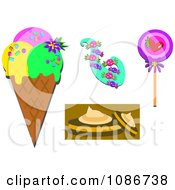 Clipart Ice Cream Candy And Cookies Royalty Free Vector Illustration by bpearth