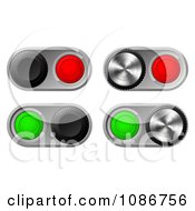 Clipart 3d Toggle Switches With Chrome Bases Royalty Free Vector Illustration by AtStockIllustration