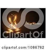 Clipart Glowing Gold Merry Christmas And Light Background Royalty Free Illustration by vectorace