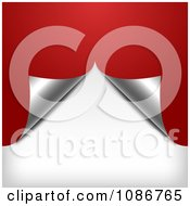 Clipart Red Silver And Shite Splitting Wrapping Paper Christmas Background Royalty Free Illustration