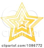 Clipart Golden Star Vortex Royalty Free Vector Illustration