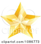 Clipart Golden Star 1 Royalty Free Vector Illustration by yayayoyo