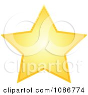 Clipart Golden Star 2 Royalty Free Vector Illustration by yayayoyo