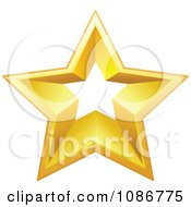 Clipart Golden Star With A Cut Out Center 1 Royalty Free Vector Illustration by yayayoyo