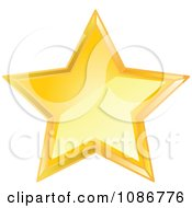 Clipart Golden Star 3 Royalty Free Vector Illustration