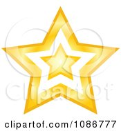 Clipart Golden Star With A Cut Out Center 2 Royalty Free Vector Illustration