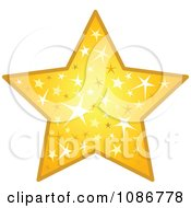 Clipart Golden Sparkling Star Royalty Free Vector Illustration